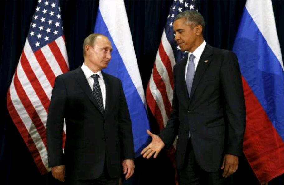 Лидеры России и США, президенты двух держав решают конфликт