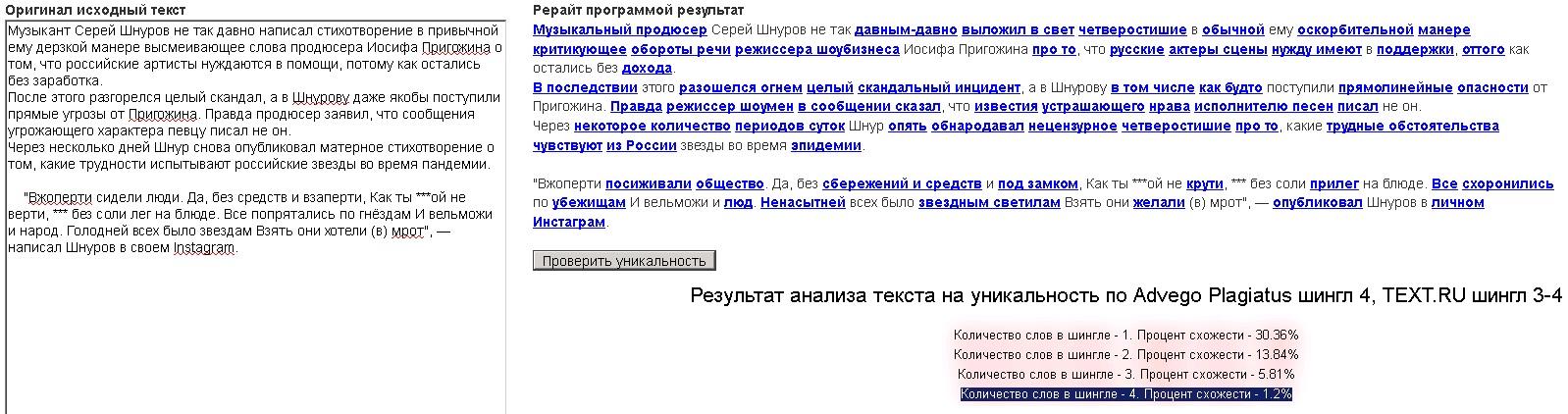 Перефразирование текста онлайн бесплатно